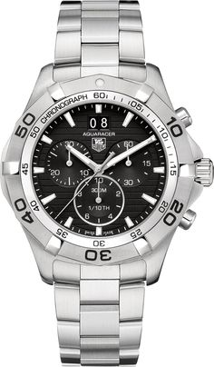 CAF101E.BA0821  NEW TAG HEUER AQUARACER GRANDE DATE MENS LUXURY WATCH IN STOCK   - FREE Overnight Shipping | Lowest Price Guaranteed    - NO SALES TAX (Outside California)- WITH MANUFACTURER SERIAL NUMBERS - Black Dial- Chronograph Feature  - Big Date Calendar  - Battery Operated Quartz Movement- 3 Year Warranty- Guaranteed Authentic- Certificate of Authenticity- Brushed with Polished Steel Case