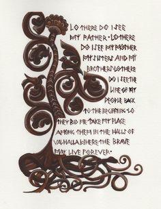 Art Print Viking Prayer Thirteenth Warrior Lo There Do I See My Father Vikings Prayer Tattoo Norse Tattoo