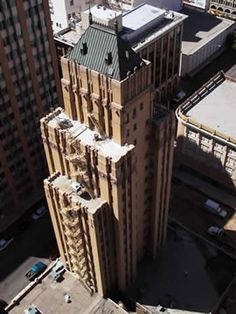 o.t. bassett tower. henry c. trost was commissioned to design the building, completed in 1930.