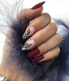 50 chic burgundy nail designs for winter 2019 - nail art - . - 50 chic burgundy nail designs for winter 2019 - nail art - - Burgundy Nail Designs, Burgundy Nails, Winter Nail Designs, Nail Art Designs, Nails Design, Dark Nail Designs, Neutral Nail Designs, Latest Nail Designs, Blog Designs