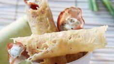 Rezept: Parmesanröllchen mit Schinken