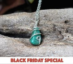 BLACK FRIDAY SALE  Amazonite Necklace  Wire by MermaidTearsDesigns