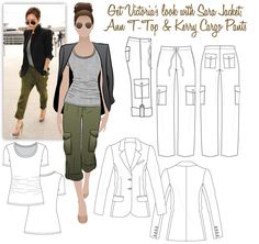 Victoria's Look 2 - Sara Jacket, Ann T-Top & Kerry Cargo Pants