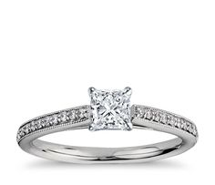 BN: Heirloom Petite Cathedral Pavé Diamond Engagement Ring
