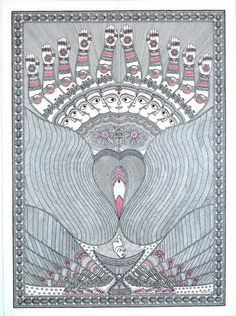The Contemporary Indian Tantra art Madhubani Art, Madhubani Painting, Kalamkari Painting, Tantra Art, Plakat Design, Sacred Feminine, Illustration, Gods And Goddesses, Sacred Geometry
