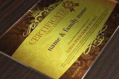 сертификат диплом из металла и оргстекла