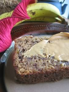 Quickly becoming my favorite banana bread recipe, this bread is made with spelt flour, which had a great slightly nutty flavor.