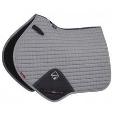 LeMieux ProSport Cotton Close Contact Square - Grey - Saddlecloths & Pads - Saddlery - Tack | Equestrian Performance