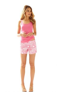 Tabbie Tank in Solid, Hotty Pink