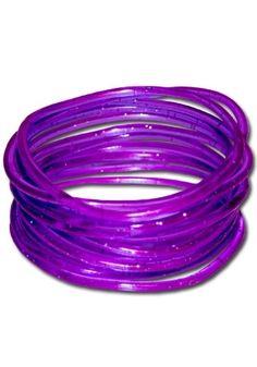 Gummy Bangles (Purple/Glitter) $3.16