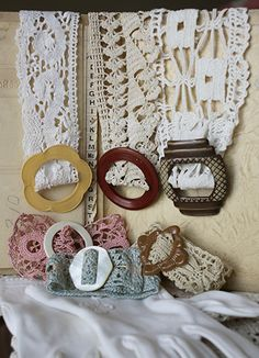 lace cuffs-old lace and belt buckles