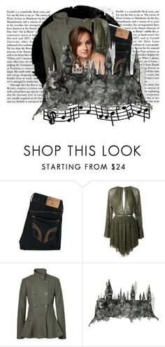 """Double, double, toil and trouble. Something wicked this way comes."" by tsheena ❤ liked on Polyvore featuring Hollister Co., Jay Ahr, harrypotter, hogwarts, tsheena, lyndsaymcdonald and tsheenaoc"