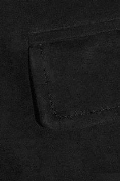 Vince - Suede Cargo Pants - Black - medium