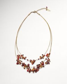 Ember cluster illusion necklace