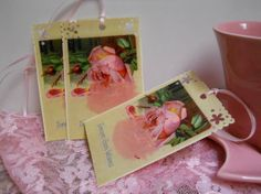 Cottage Chic Postcard Gift Tags  Set of 3  by ButterflyInTheAttic, $3.95 @Postcards In The Attic