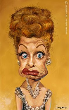 Caricature of Lucille Ball. Lucille Ball, Cartoon Faces, Funny Faces, Cartoon Art, Caricature Artist, Caricature Drawing, Drawing Art, Funny Caricatures, Celebrity Caricatures