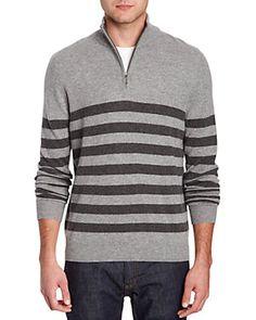Forte Cashmere Smoke Cashmere 1/4-Zip Sweater