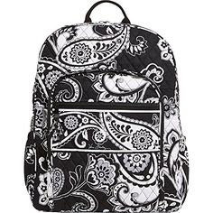 Vera Bradley Womens Campus Backpack Midnight Paisley Backpack -- This is an Amazon Affiliate link. You can find more details by visiting the image link.