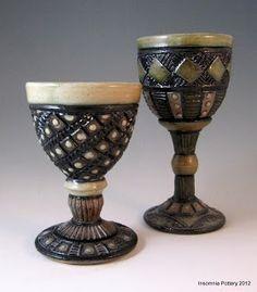 Insomnia Pottery Workshop: Stunning goblets by Ginger Steele