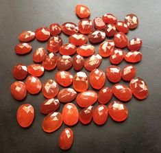 WHOLESALE 10 Pcs Carnelian Orange Chalcedony Rose by gemsforjewels