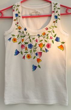 How to make this Summery Floral Tee-shirt