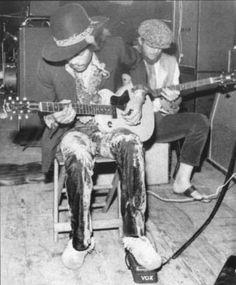 Jimi Hendrix rocking a Vox wah.