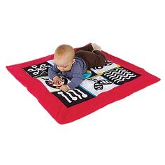 Wimmer Ferguson Tummy Time Play Mat Stimulates Babies' Vision