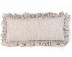 Pine Cone Hill Savannah Linen Chambray Dove Grey Decorative Pillow