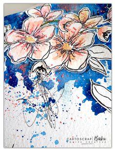 Binka vient vous montrer la suite des pages art journal mêlant fleurs, patouille & peintures. Un résultat pimpant, doux et graphique ! Venez les admirer !