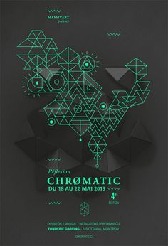 Mood inspiration   Gig poster / Festival Chromatic 2013 - Poster by Emilie Thibaut
