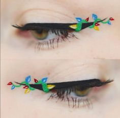 Is floral eyeliner the new flower crown? Get inspired with these GORGEOUS floral eyeliner looks and try it for yourself! Perfect Eyeliner, Eyeliner Looks, How To Apply Eyeliner, Winged Eyeliner, Christmas Makeup Look, Holiday Makeup Looks, Makeup Tips, Beauty Makeup, Eye Makeup