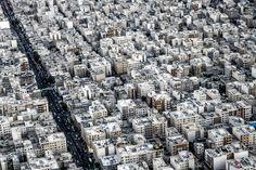 Tehran from Borj-e Milad (Milad Tower), Iran - More from Iran on http://roman.rogner.cz/iran-leto-2017.Follow me on https://www.instagram.com/roman.rogner.cz. #tehran #teheran #borjemilad #milad #tower #iran #city #houses #way #cars #persi #persia #evening