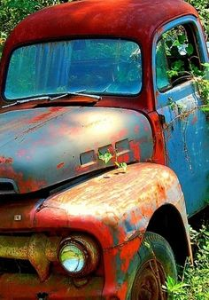 Faded Red Truck