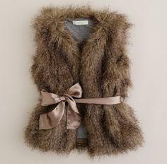 J Crew 'fiona' faux fur vest
