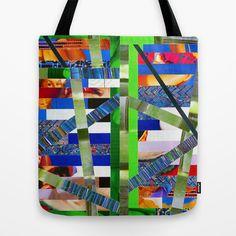 Agnes (stripes 16) Tote Bag by Wayne Edson Bryan - $22.00