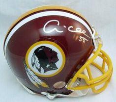 Andre Collins NFL Washington Redskins Hand Signed Mini Helmet