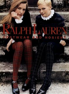 Ralph Lauren Hosiery ad.  23 Iconic Moments From Ralph Lauren on Yahoo Style