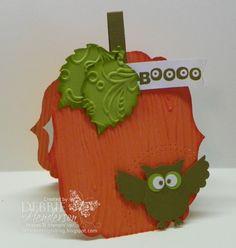 Labels Framelits Pumpkin   by Debbie Henderson (USA-Maine) on October 28, 2012