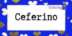 Conoce el significado del nombre Ceferino #NombresDeBebes #NombresParaBebes #nombresdebebe - http://www.tumaternidad.com/nombres-de-nino/ceferino/