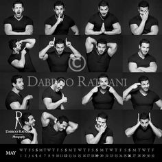 Mr. May. I completely see J.A. flexing his muscles and winking in the mirror like this every morning.  From Dabboo Ratnani's brilliant calendar.