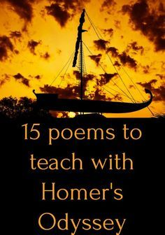 Poems that pair well with Homer's Odyssey in the classroom