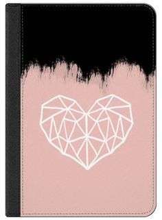 Casetify iPad Air 2 iPad Folio Case - Geometric heart on pink by Psychae #Casetify