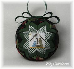 Quilted Keepsake Ornament  Nativity / Silent by PattysCraftCorner