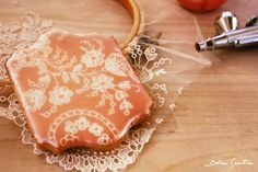 Romantic lace cookies (airbrush) Tutorial {Photo}