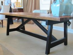 270356783853734441 DIY kitchen table.
