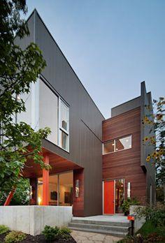 siding and cedar- modern - exterior - kansas city - Faust Construction