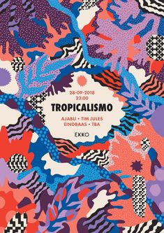 Tropicalismo is a series of parties celebrating tropical sounds from all over the world. Poster S, Party Poster, Festival Posters, Concert Posters, Theatre Posters, Movie Posters, Ms Project, Tropical Design, 3d Prints