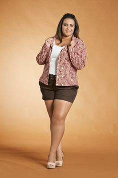 Blazer Plus Size Feminino Estampado |Hello-ooo Casual Friday!