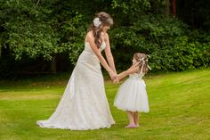 Bride & Flower Girl picture at a Canterwood Golf & Country Club wedding