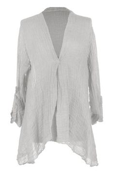 a93e7b21ce7 Texture Online   Lagenlook Clothing   Made In Italy   New Arrivals. Tunic  Tops. V Neck Textured Asymmetric Tunic